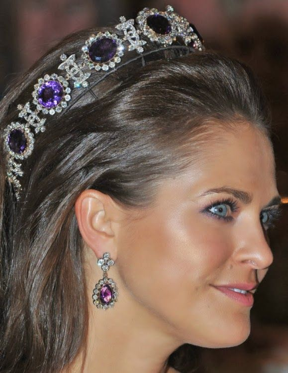 Amethyst Parure Tiara - now part of the Swedish royal family jewels