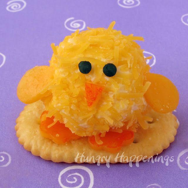 Acontecimientos Hungry: Bolas del queso del polluelo del Bebé - Los pequeños aperitivos lindos párrafo de La Cena de Pascua