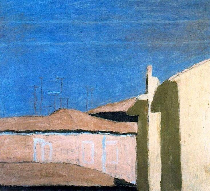 Giorgio Morandi, Cortile di via Fondazza, 1933
