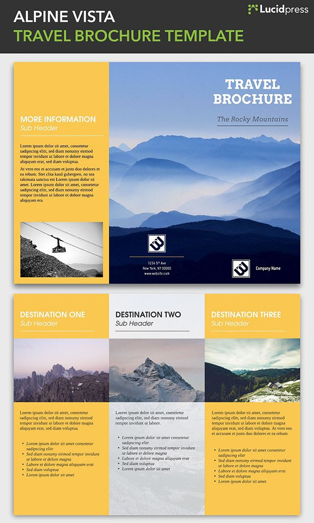 23 best Free Brochure Templates images on Pinterest Free - sample travel brochure