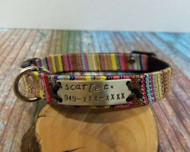 Boho Collar, Cat Collar, cat collar breakaway, personalized cat collar, pet collas, small dog collar, breakaway collar, personalized collar. by VacForPets on Etsy