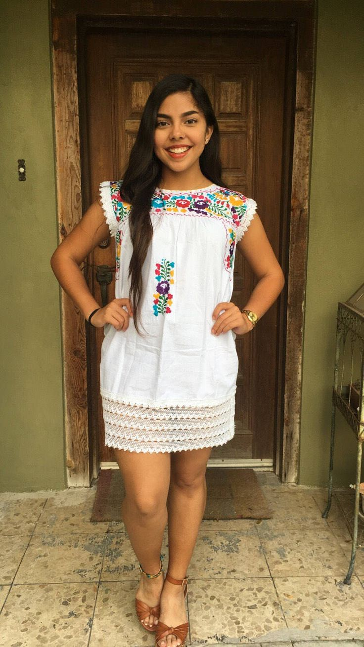 Mexican Dress, Mexican Tunic by MXEnLaPielFashion on Etsy https://www.etsy.com/listing/516358658/mexican-dress-mexican-tunic
