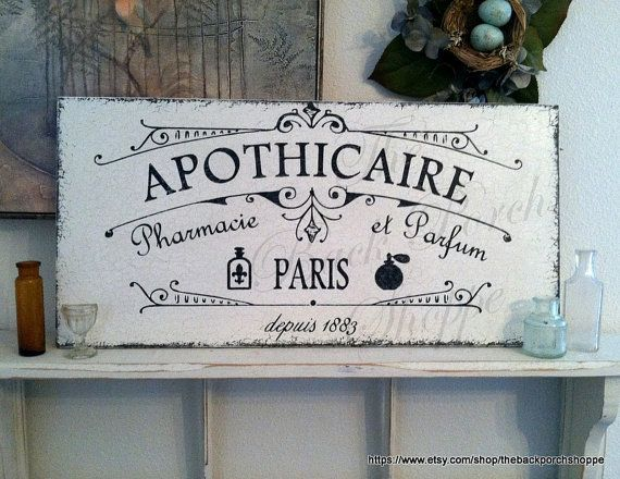 APOTHICAIRE Pharmacy Perfume 12 x 24 by thebackporchshoppe