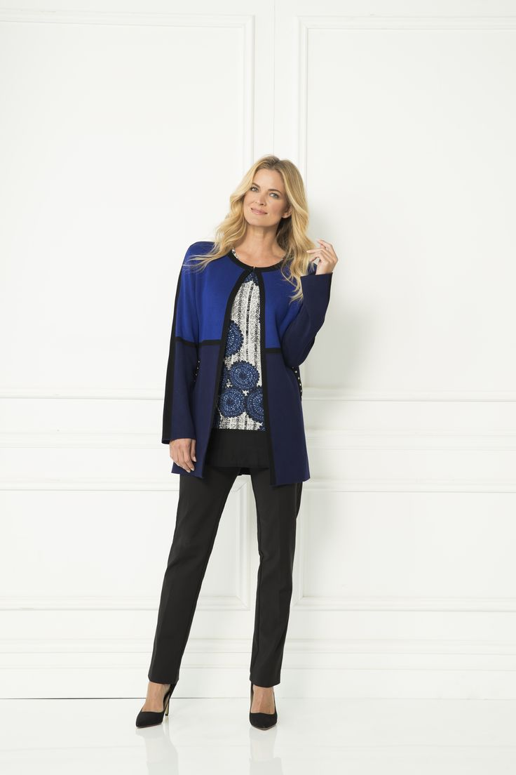 The Jazzi Cardi is the ultimate trans-seasonal layering piece. The loose, longline cardigan is cosy with decorated hip pockets and an easy fit. The beautiful electric blue shade will effortlessly pair with everything in your wardrobe.  Longline Long sleeve Single neck fastening Liz Jordan