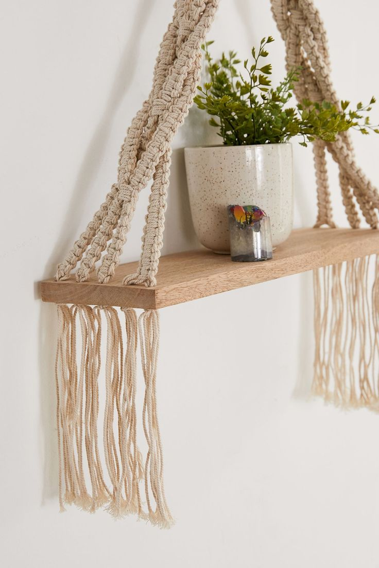 Josie Macramé Hanging Shelf