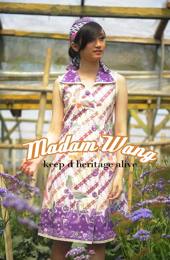 batik dress purple
