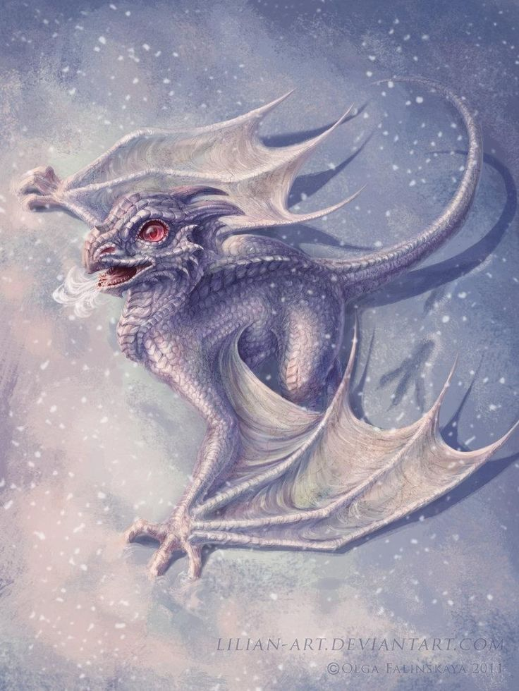 Aw! Look at how cute this baby dragon is! She looks like an ice dragon!