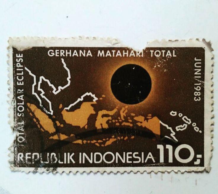Gerhana Matahari Total '83 #solareclipse #stamp #perangko #filateli  #indonesia #old #hobby #instadaily