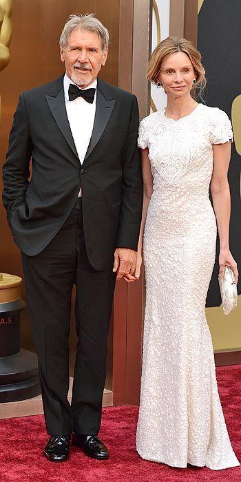 Harrison Ford and Calista Flockhart #Oscars2014 #Oscars #STYLAMERICAN
