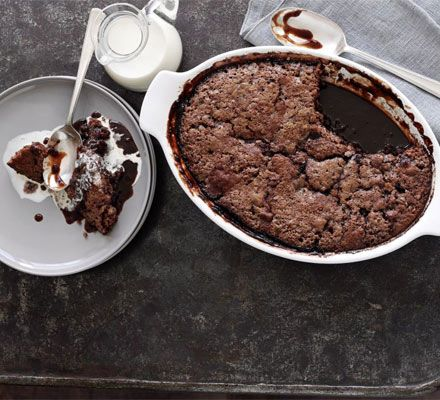 I will be cooking this Self-saucing chocolate pudding on Sunday to round off my roast duck meal.