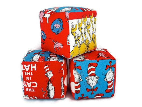 Dr Seuss Fabric Soft Blocks by LittleSidekick on Etsy,