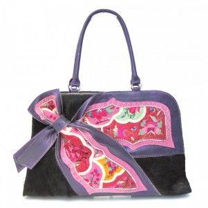Leather tribal bag