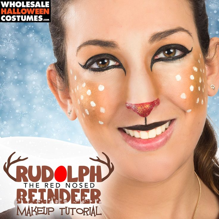 Rudolph the Red-Nosed Reindeer Makeup Tutorial from Wholesale Halloween Costumes!