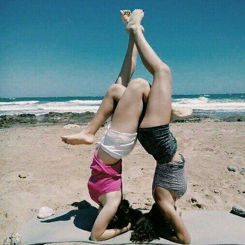 #summer # BFF #beach #yoga #fitness