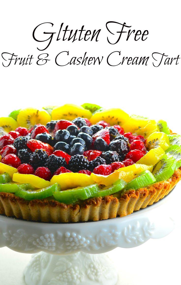 Gltuten Free Fruit & Cashew Cream Tart Recipe Fruit
