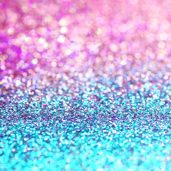 Pastel sparkle- photograph of pink and turquoise glitter ...