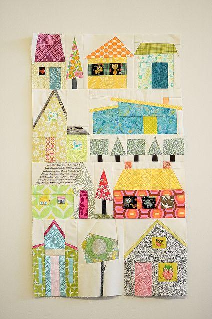 Quilt.... LoveHouse Quilt Block, Scraps Quilt, Suzanne House, Village Quilt, Suzanne'S House, Quilt House Block, Quilt Blocks, Modern Houses, House Quilts