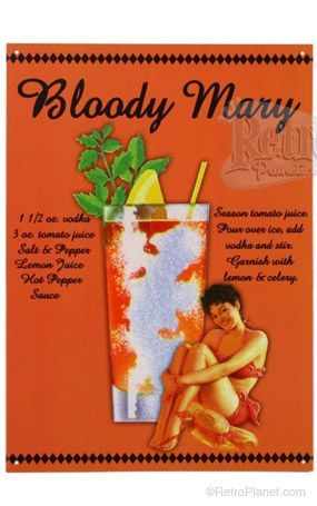 image of Bloody Mary Metal Sign