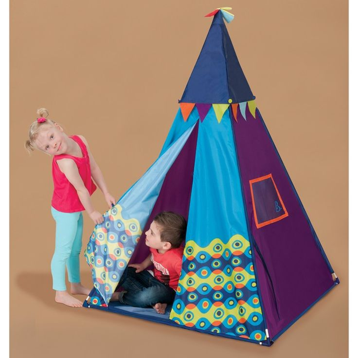 This amazing play teepee from B. is a pop-up kids tent and a room planetarium - in one toy. Manufactured by B.. Recommended for 3 years, 4 years, 5 years, 6 years, 7 years.