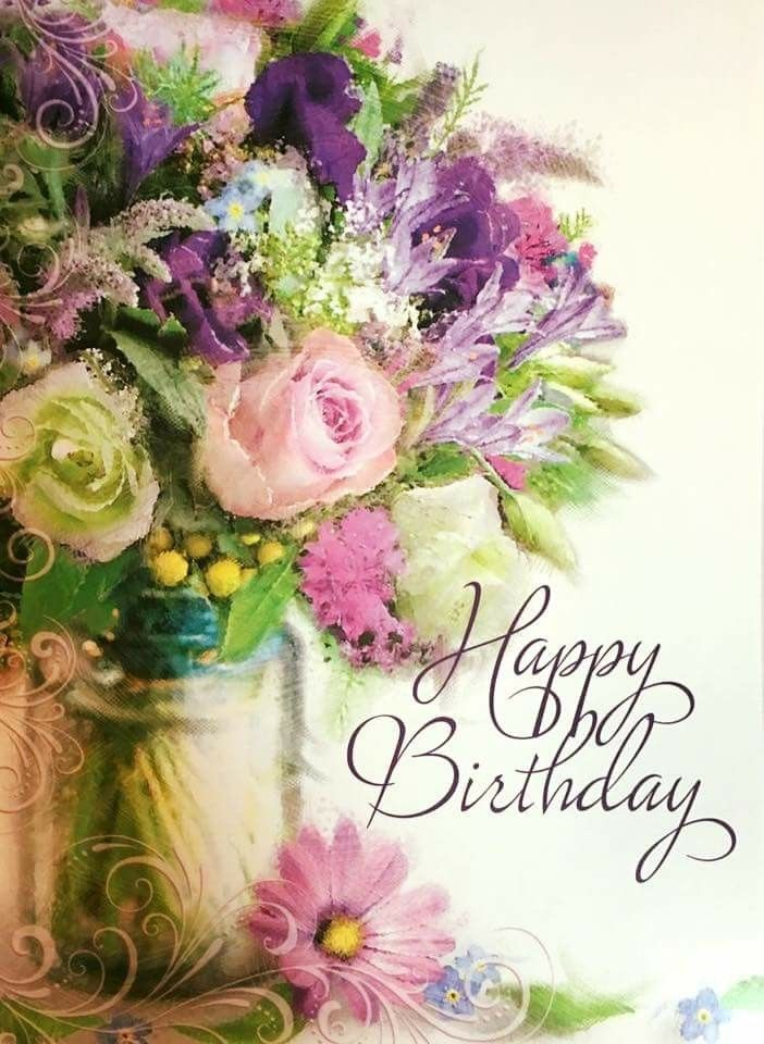 Pin By Nancy Flores On Cumpleanos In 2020 Free Happy Birthday Cards Happy Birthday Flower Birthday Wishes Flowers
