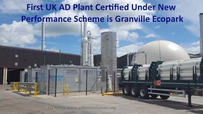 Anaerobic Digestion News: First UK AD Plant Certified Under New Performance ...