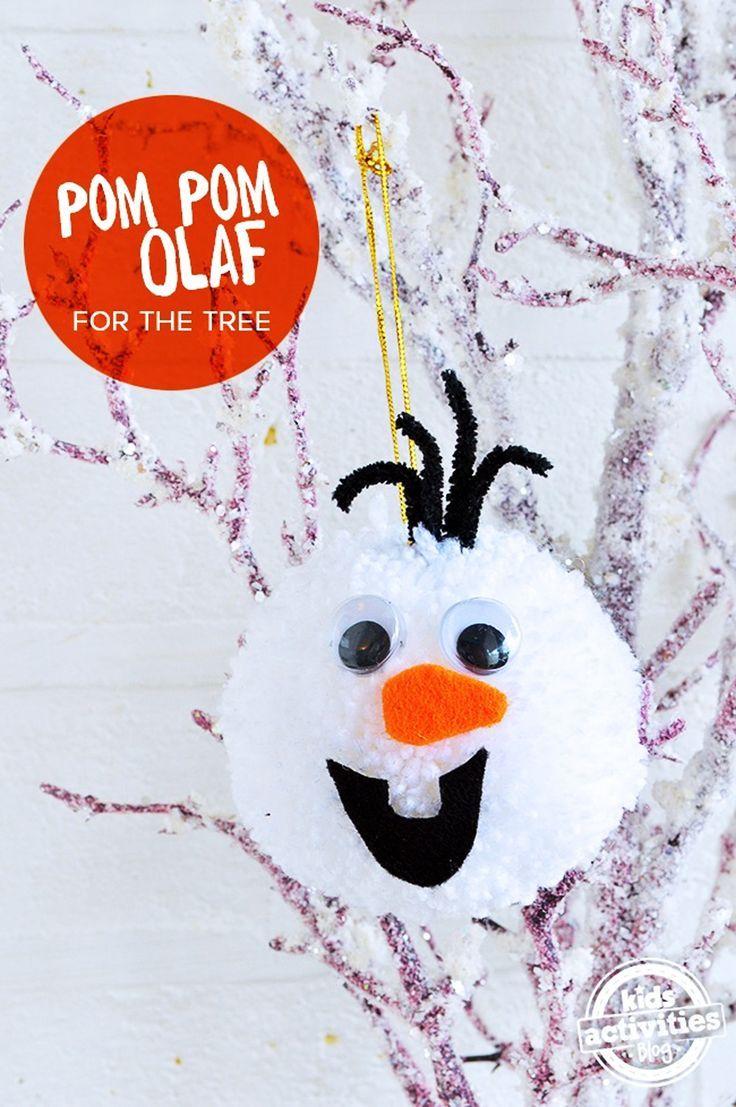 OLAF FROZEN POM POM – DIY XMAS TREE DECORATION - Kids Activities ...