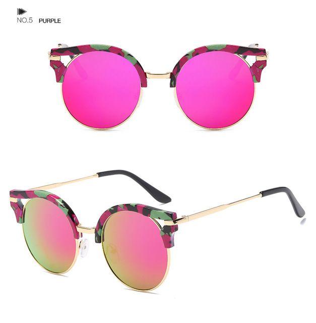 F. J4Z fashionwomen «кошачий глаз» классические Брендовая дизайнерская обувь Круглые линзы солнцезащитные очки Óculos де золь UV400 защиты