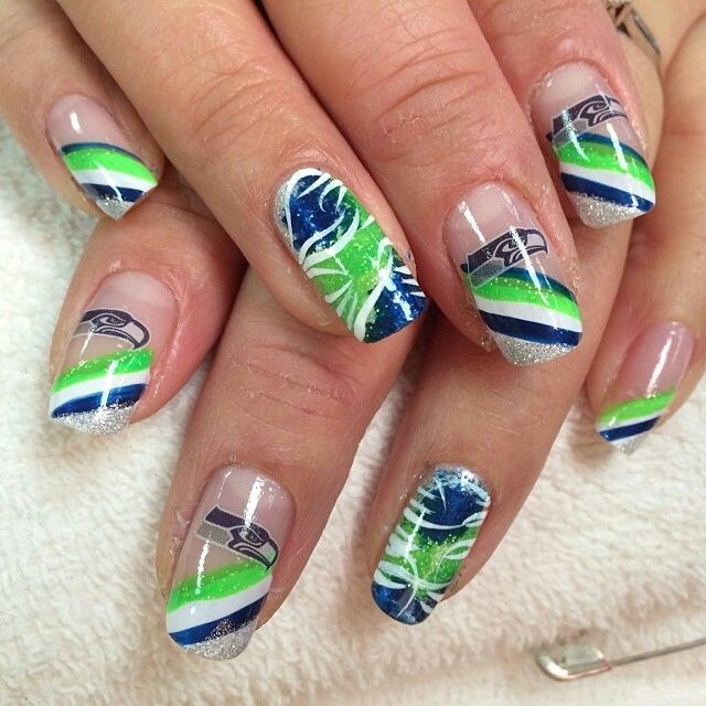 Seahawks Fingernail Art Sb48 Edition Nail