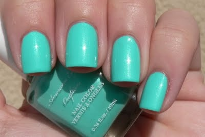 American Eagle turquoise nail polish. One of my wedding colors! Love it!