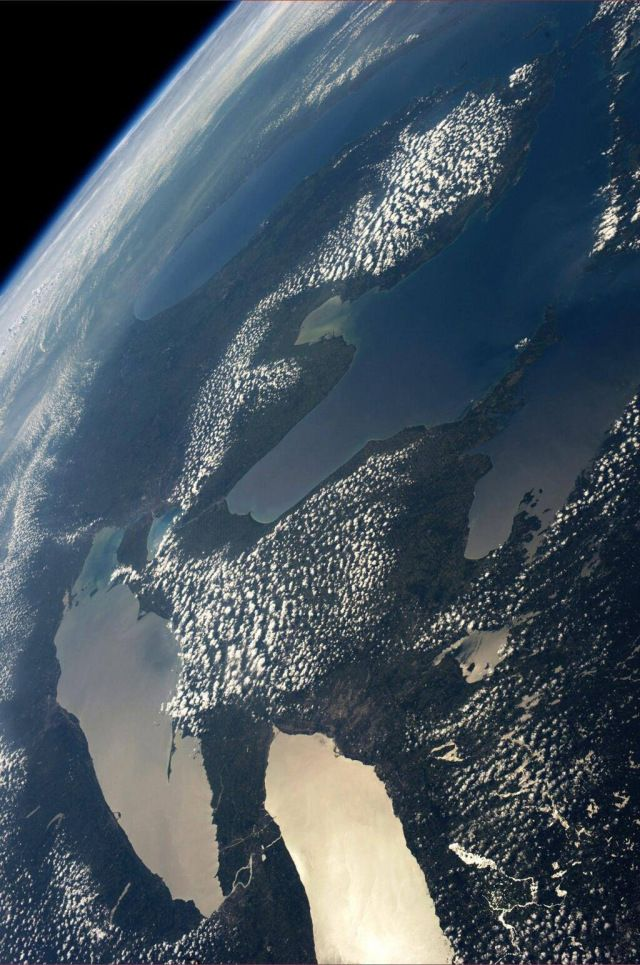 Picture Michigan and the Great Lakes taken by Karen L. Nyberg aboard the International Space Station | Michael Rinehart