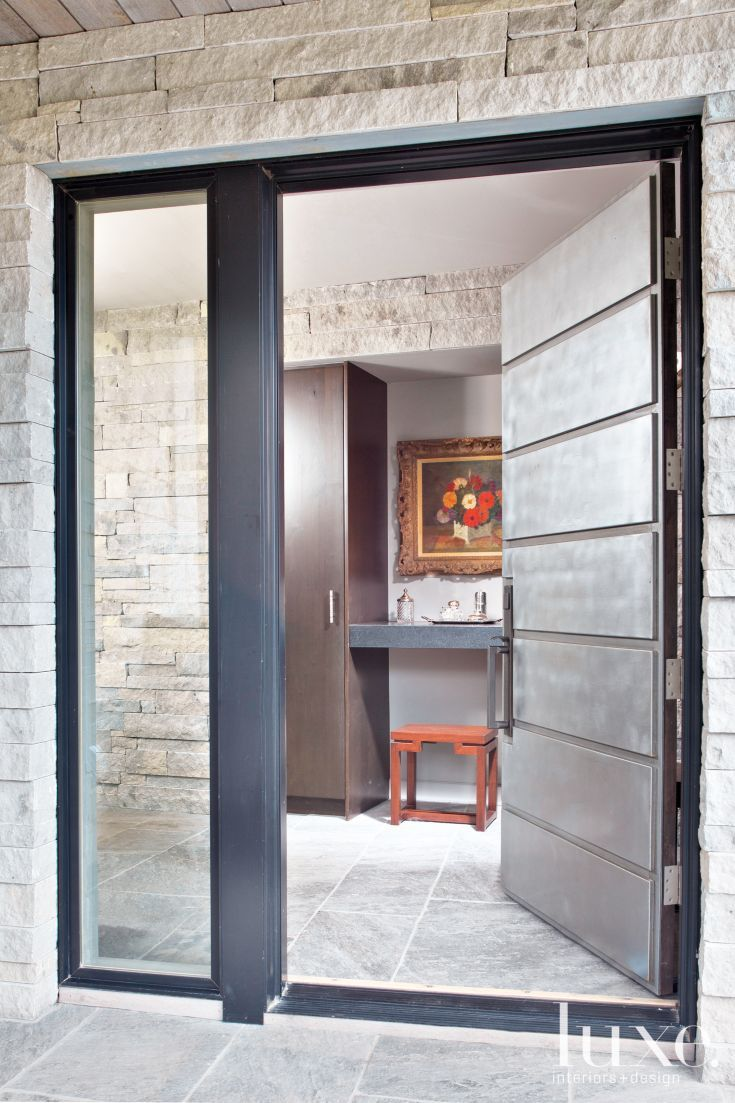 Contemporary Stone Entryway