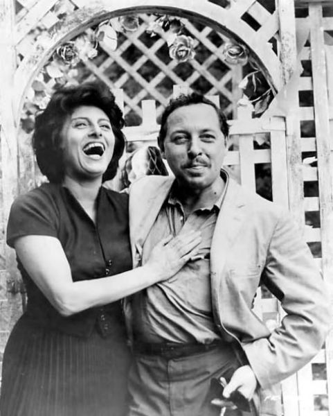 Italian actress Anna Magnani and writer Tennessee Williams having a laugh