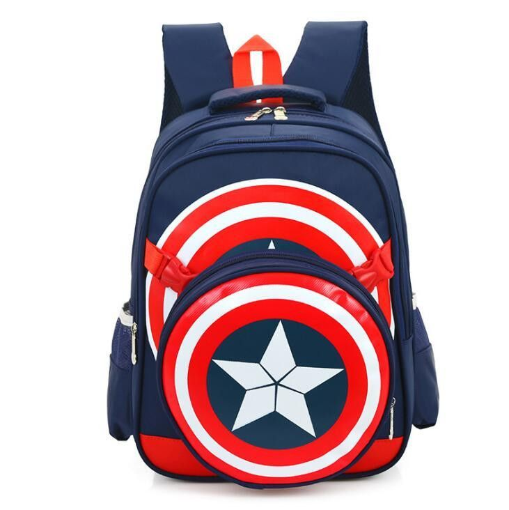 High Quality Large Captain America School Bags For Boys Girls Children Primary Students Backpacks Waterproof Kids Book