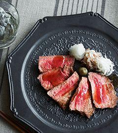 アメリカン・ビーフ 和風薬味ステーキ | レシピ | アメリカン・ビーフ&アメリカン・ポーク公式サイト(米国食肉輸出連合会)