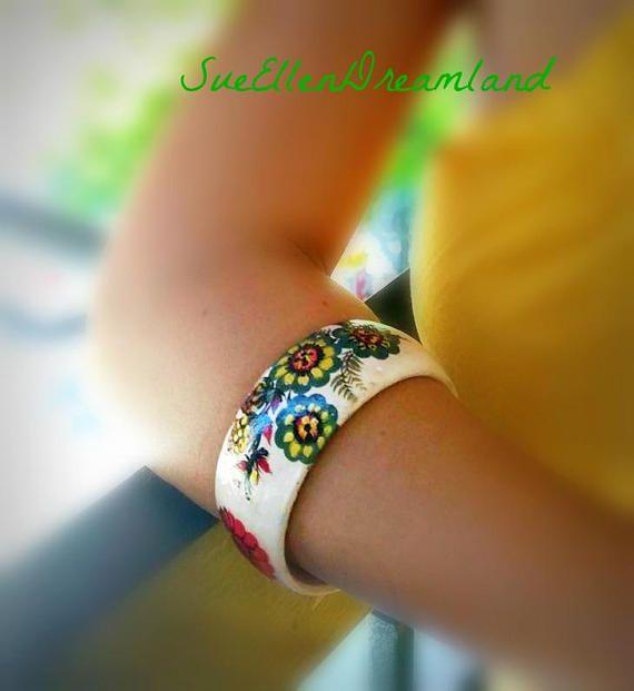 ETSYCIJ,cuff bracelet,recycled repurposed jewelry boho upcycled bracelet eco friendly,fait main