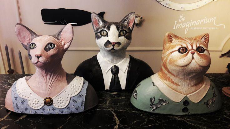 Paper mache cat sculptures by ''the Imaginarium''!!!