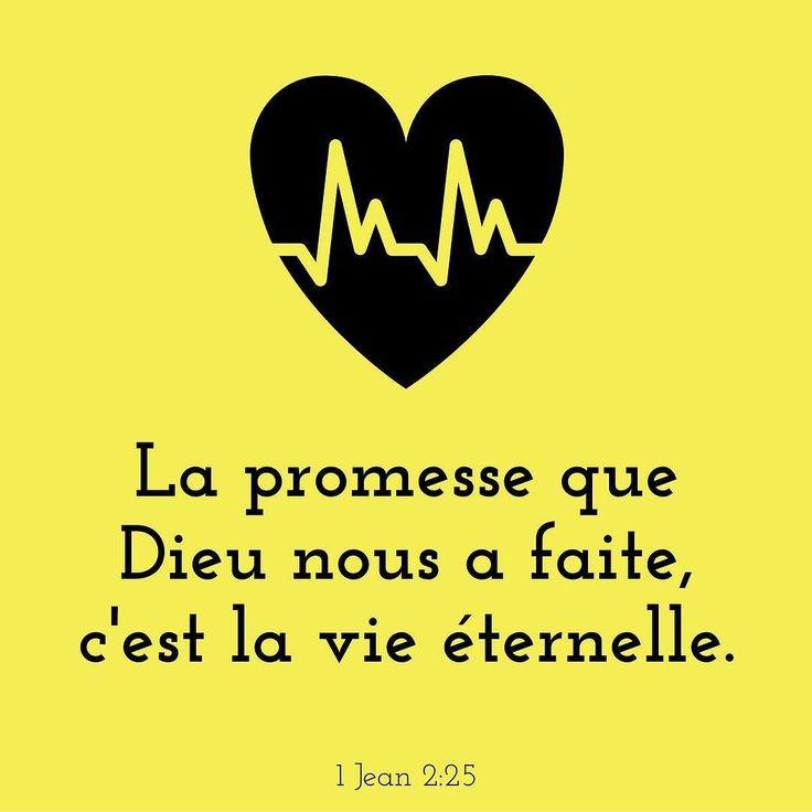 Cette #promesse est aussi pour toi! #versetdujour #bible #VieEternelle #toujours