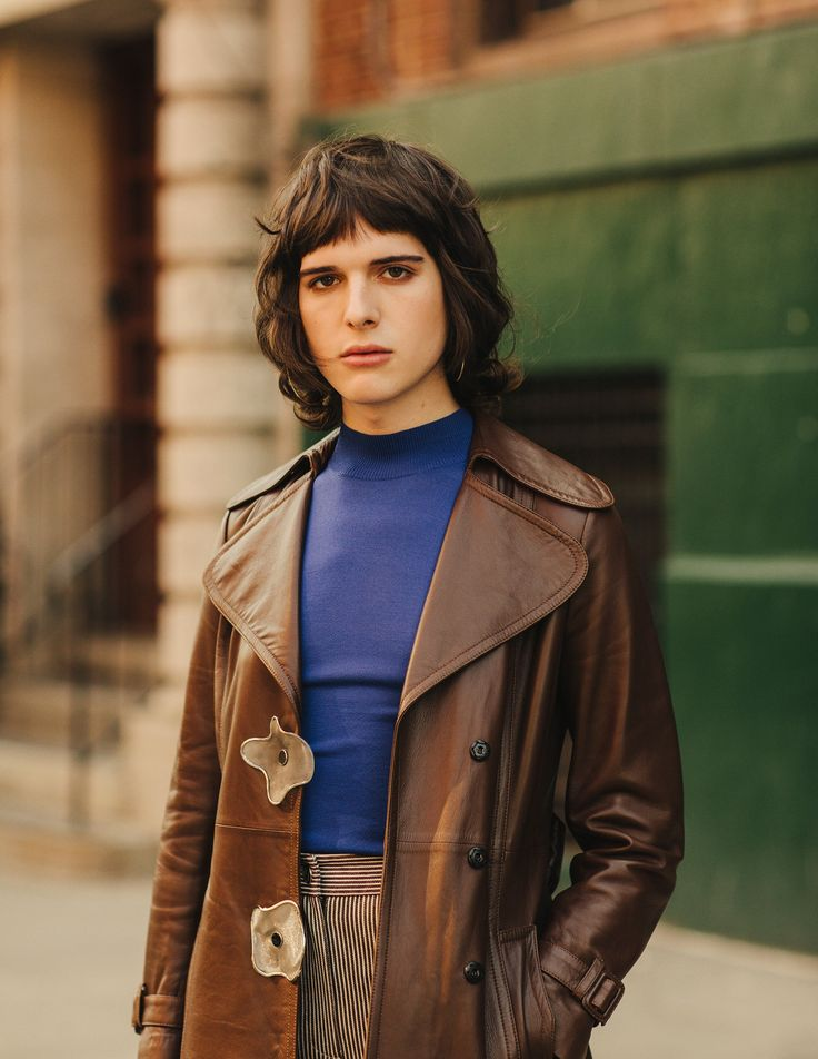 """The Fall/Winter 2015 Stripe Pant in Mahogany and White in """"Meet Hari Nef: Model, Actress, Activist, and the First Trans Woman Signed to IMG Worldwide"""" on Vogue.com, by Katherine Bernard"""