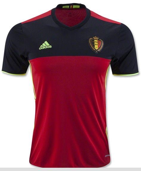 Belgica 2016 copa de europa thai camiseta de futbol primera equipacion rojo,talla S,M,L,XL,pago credit card,paypal,mas baratos en 3futbolmoda.com