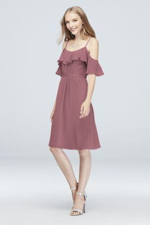 e608263a51 This crinkle chiffon bridesmaid deserves a special place in your wedding  party  The spaghetti straps