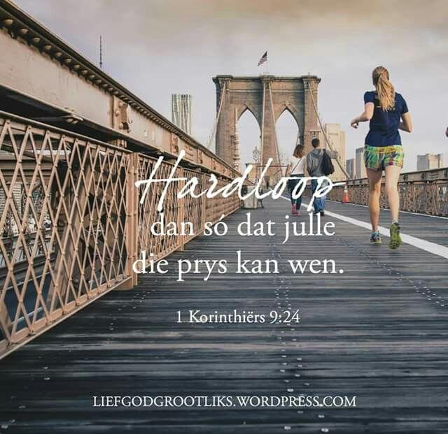 Daar sal tye wees wat jy nodig het om te rus, en tye om te hardloop. Uithouvermoë is die sleutel, en om te weet wanneer om te hardloop en wanneer om te loop, sal al die verskil maak. 1 Korinthiërs 9:24 #LiefGodGrootliks