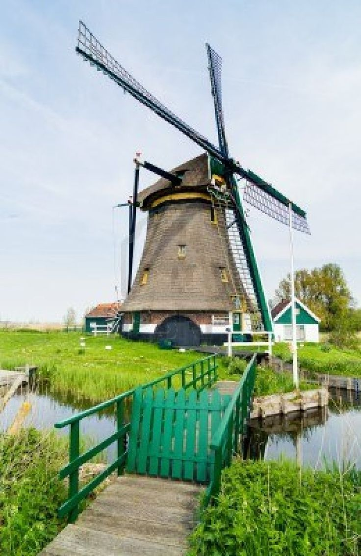 "Dutch windmill  Netherlands.  Stopped at a windmill farm on. ""National Windmill Day"" on Rhine River Cruise."
