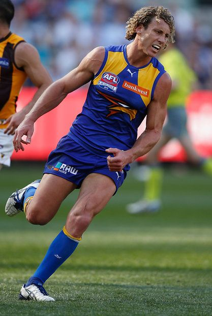 2015 Toyota AFL Grand Final - Hawthorn v West Coast - Matt Priddis of the Eagles shows his emotions after missing a goal
