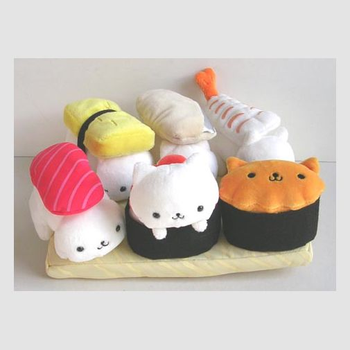 Found while surfing the Internet. Wish I could find the original source. Anyhow, Sushi Cats! Super cute.