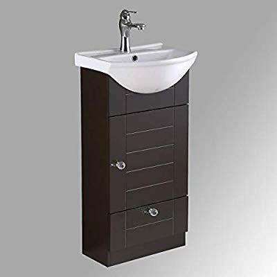 Small Bathroom Cabinet Vanity Sink Dark Oak Faucet And Drain Space Saving Design Renovators Supply In 2020 Vanity Sink Small Bathroom