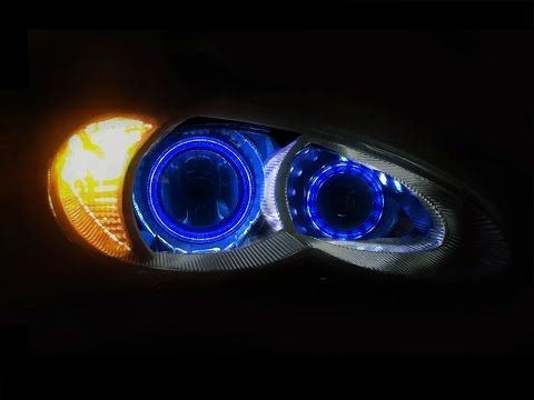 2006 to 2010 Chrysler PT Cruiser 16 Color - Color Changing LED HALO Headlights - YouTube