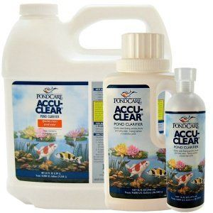 8 oz. Accu Clear Pond Clarifier Size: 64 Oz by Mars Fishcare North America. $39.03. Works by causing tiny suspended cloud particles in pond water to clump together.. Quickly clears cloudy pond water.. Use Pond Zyme Plus or EcoFix along with Accu-Clear for incomparable pond cleanliness.. Maintains crystal-clear pond water.. Helps filters function more efficiently.. AAP142D Size: 64 Oz Features: -Pond clarifier.-Maintains crystal clear pond water.-Quickly clears cloudy pond wa...