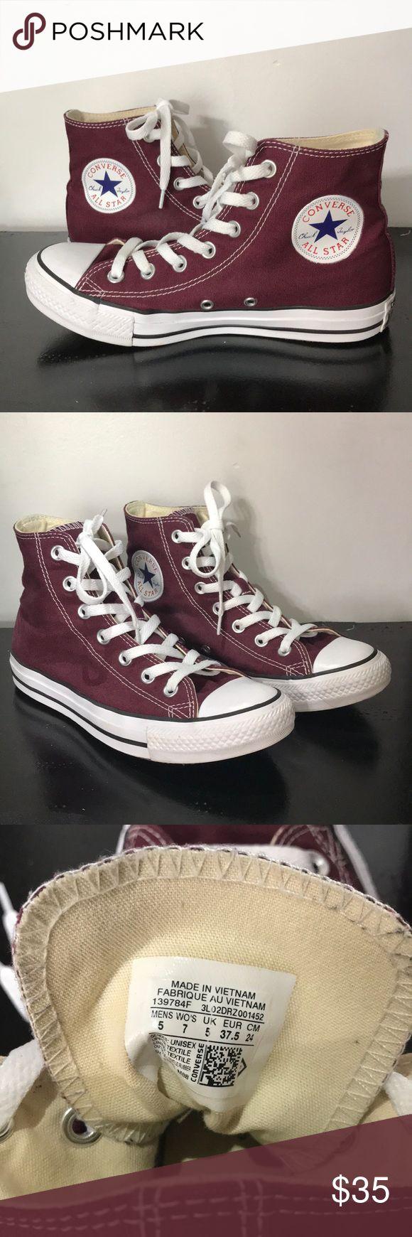 I just added this listing on Poshmark: Unisex Maroon/burgundy high top converse. #shopmycloset #poshmark #fashion #shopping #style #forsale #Converse #Shoes
