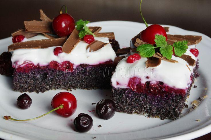 Makový osviežujúci koláčik /bez múky/