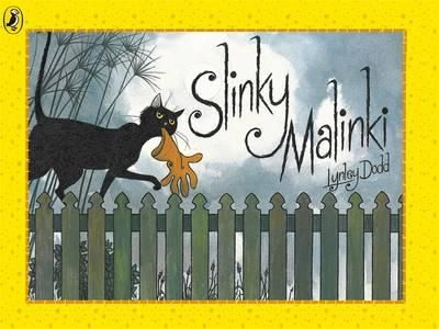 Slinky Malinki steals anything from a clothes peg, to a slipper, to a string of sausages, to a clock! Our hero is a BAD cat.
